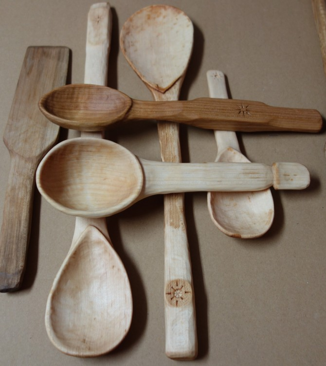 ...and Maple spatula on the left.