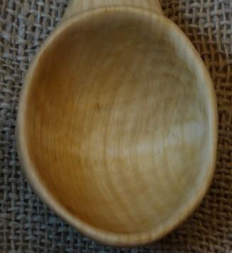 Yellow Birch spoon bowl.